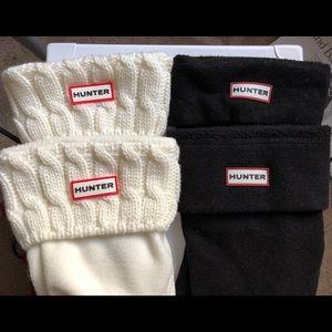 2 Pairs Short Hunter Boot Socks Fleece and Knit